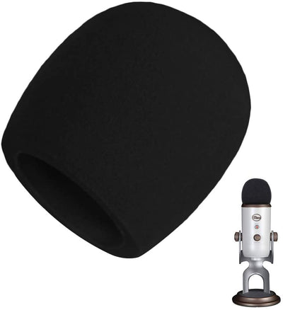 Replacement Windscreen Foam Microphone Wind Cover Compatible with Blue Yeti Microphones