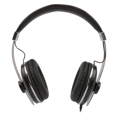 [REYTID] On-Ear Black/Chrome Headphones for iPhone and Android - Volume Control and Microphone