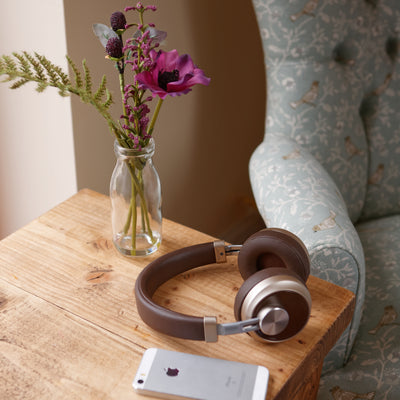 [REYTID] XT7 Brown Bluetooth Headphones, Wireless - Heavy Deep Bass -  For iPhone, Samsung Galaxy