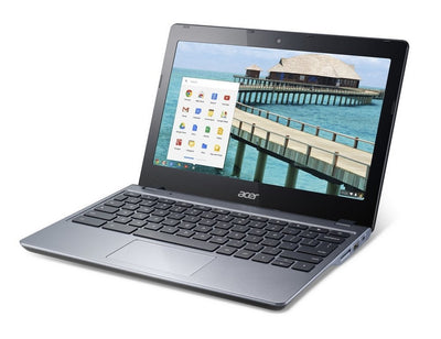 "Acer Chromebook C720 Touchscreen 11.6"" Laptop Black - 4GB RAM 16GB SSD HD Intel 2955U 1.4GHz WiFi C"