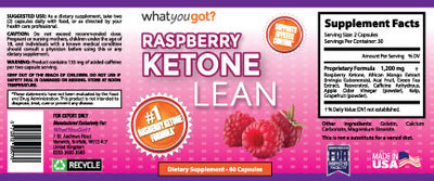 [REYTID] 100% Pure Raspberry Ketones Natural Weight Loss Supplement Appetite Suppressant Fat Burner