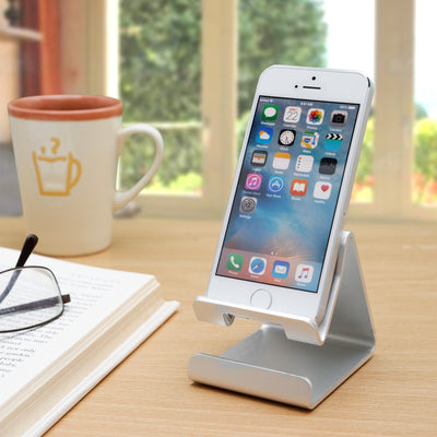 [REYTID] Metal Alloy Phone Holder for ALL Smartphones Stand Desktop Mount - Choice of Colours