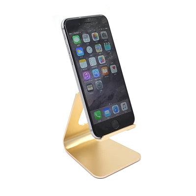 [REYTID] Premium ADJUSTABLE Solid Aluminum Alloy Phone Holder for Smartphones & Tablets - Gold