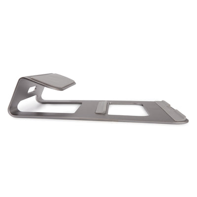 Premium LAPTOP Stand Solid Aluminum Alloy Stand Mount for Apple Macbooks & Windows - Dark Silver