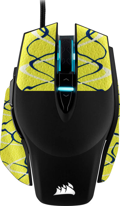 REYTID Durasoft Polymer Gaming Mouse Skin Grip Sticker Tape - PRE-CUT - Compatible with Corsair M65 Elite - Slip-Resistant, WaterProof and Ultra-Comfortable
