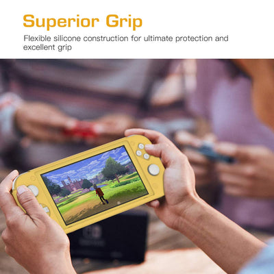 Yellow Full Body Protector Case with Non-Slip Grips Compatible with Nintendo Switch Lite