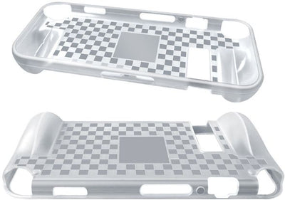 Nintendo Switch Console Protective Case Grip - White TPU Surface - Handheld Travel Case