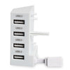 USB Four Port Hub for Xbox One S - White USB 2.0 Expansion Adapter Charger