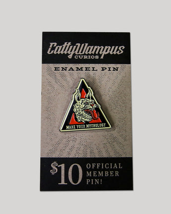 CattyWampus Enamel Pin