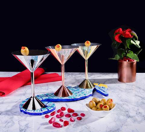 Metal Martini Kadehies
