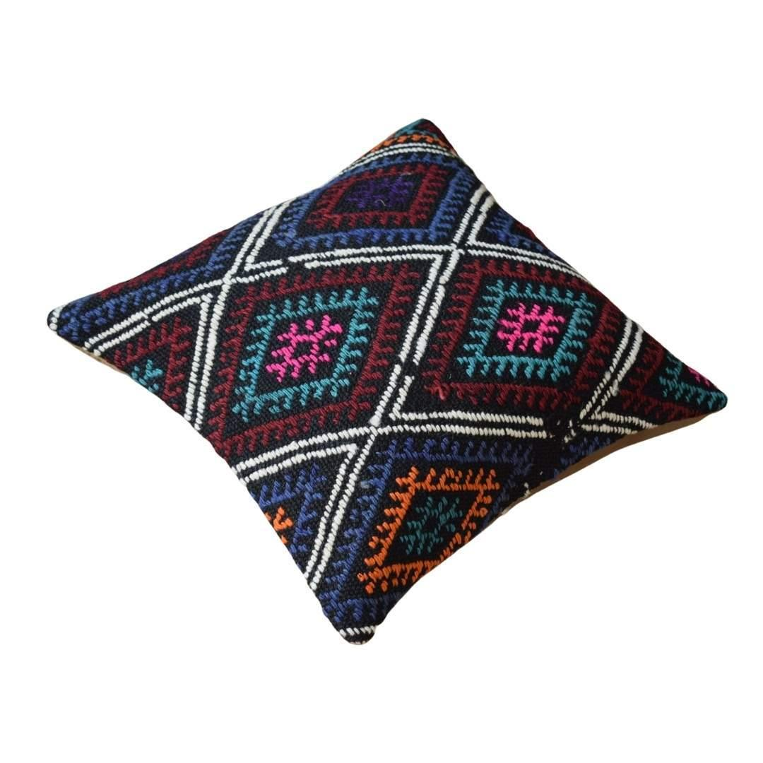 Vintage Embroidered Kilim Pillow Cover
