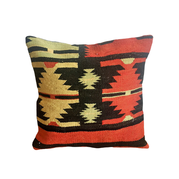 Vintage Kilim Pillow Cover - Red