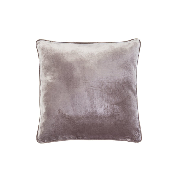 Velvet Pillow with Piping - Beige