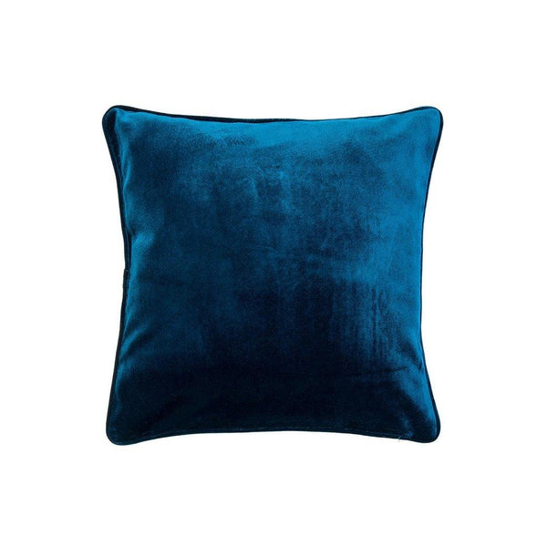 Velvet Pillow with Piping - Navy