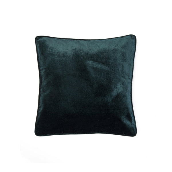 Velvet Pillow with Piping - Green