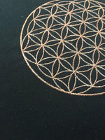 Load image into Gallery viewer, Embroidered Pillow with Flower of Life - Copper