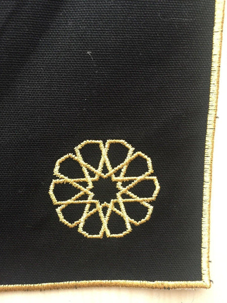 Embroidered Table Mat with Seljuk Star - Gold