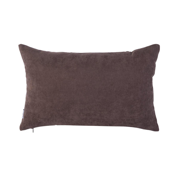 Kutnu Silk Pillow with Embroidery - Brown Pomegranate