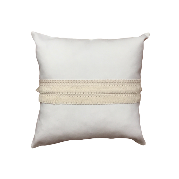 Beige pillow cover with detail no2