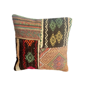 Vintage Kilim Pillow Cover no. 1 16''x16'