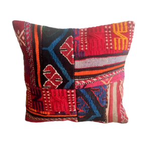 Vintage Kilim Pillow Cover no. 2 16''x16'