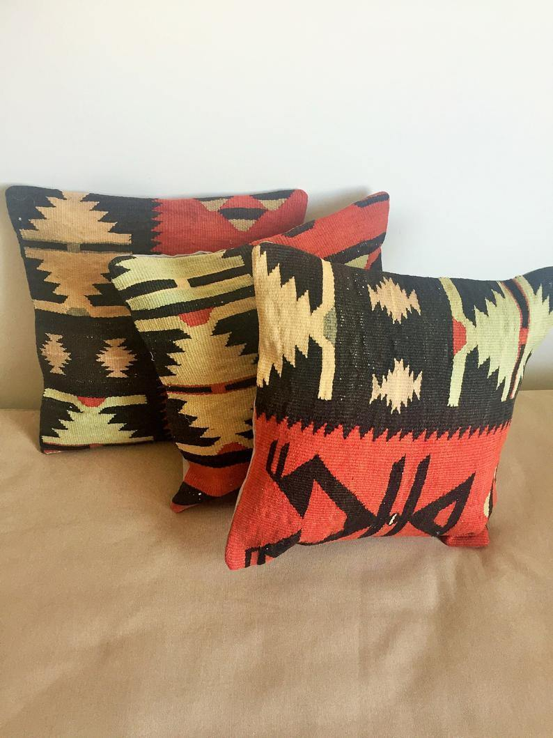 Vintage Kilim Pillow Cover no. 6