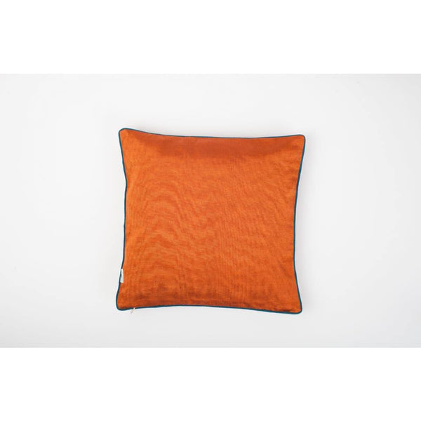 Kutnu Silk Pillow with Embroidery - Fertility Orange Authentic Silk Cushion - Yastk