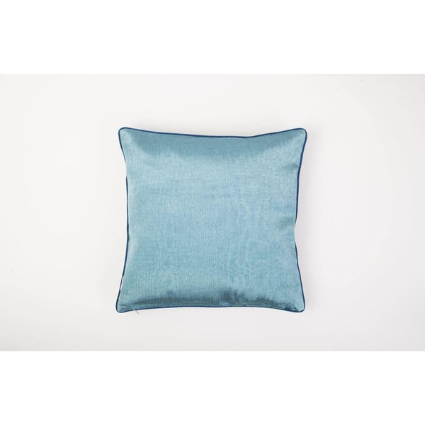Kutnu Seidenkissen mit Stickerei - HandsOnHips Light Blue Authentic Silk Cushion - Yastk