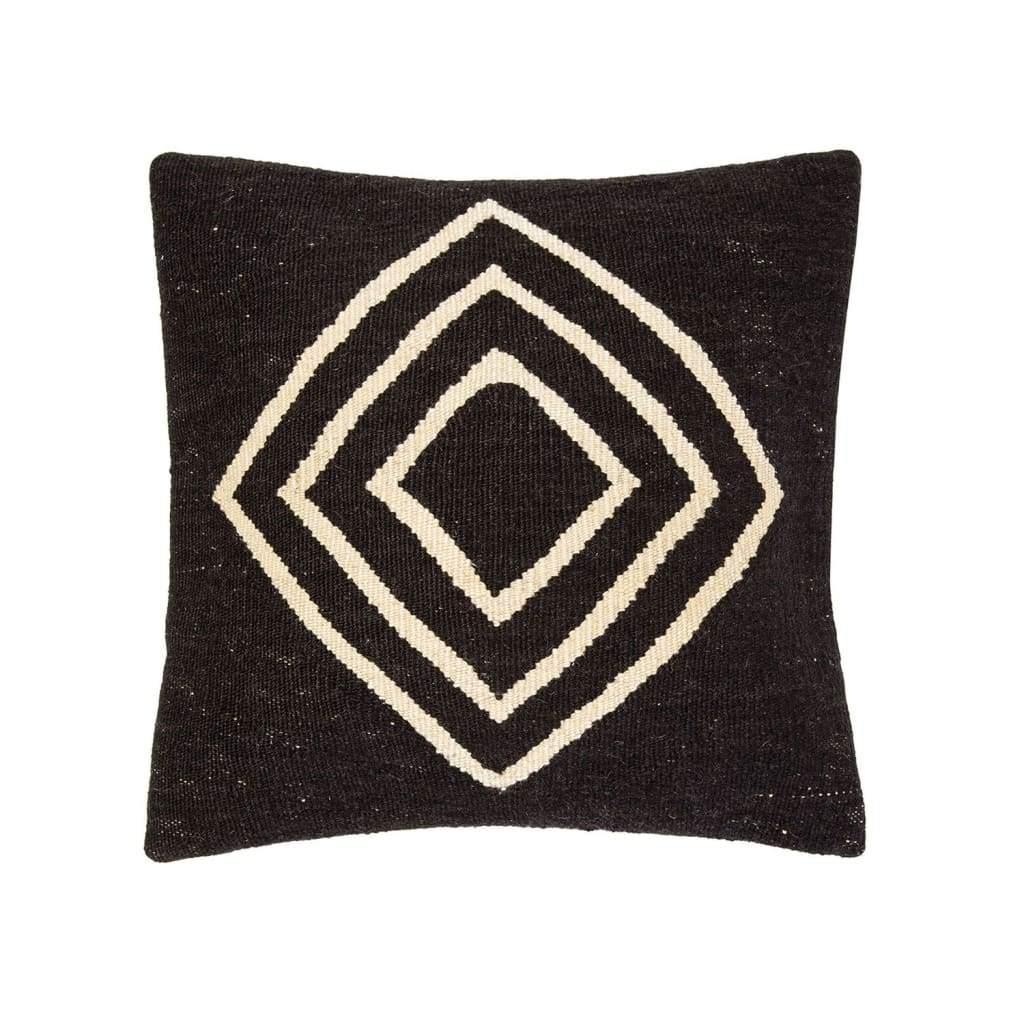 Ruh Kilim Pillow - Black - Yastk
