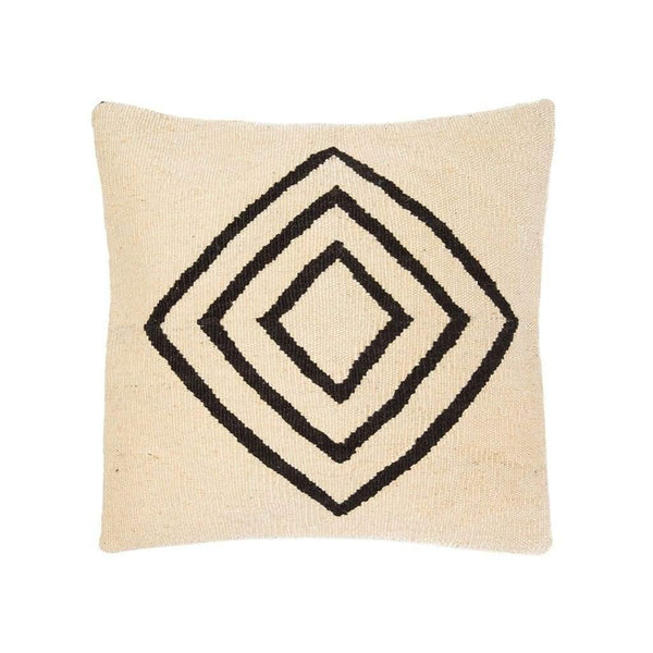 Ruh Kilim Pillow - White - Yastk