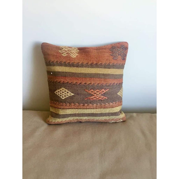 Vintage Kilim Pillow Cover nr. 2 16x16 - Yastk