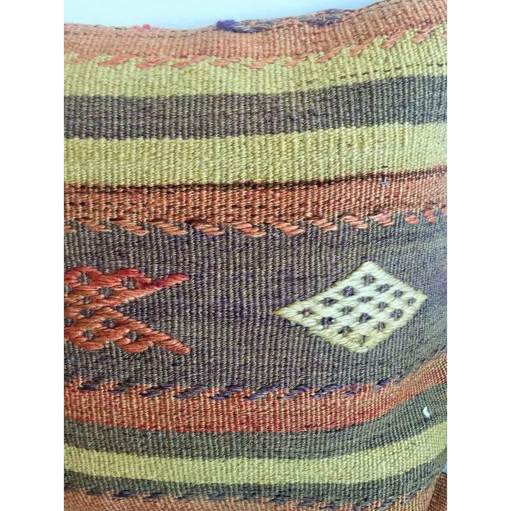 Vintage Kilim Pillow Cover no. 2 16x16 - Yastk