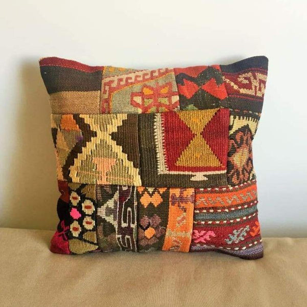 Vintage Kilim Pillow Cover nr. 3 16x16 - Yastk