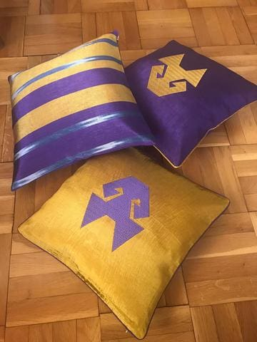 Purple and Gold Yellow