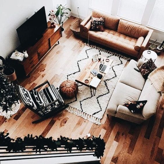 monochrome style living room