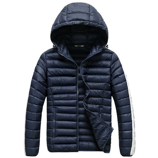 Men's Light Down Jacket for Camping and Outdoors