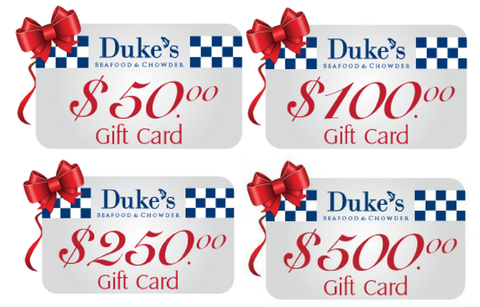 Buy Duke's Gift Cards, Get 20% additional for free
