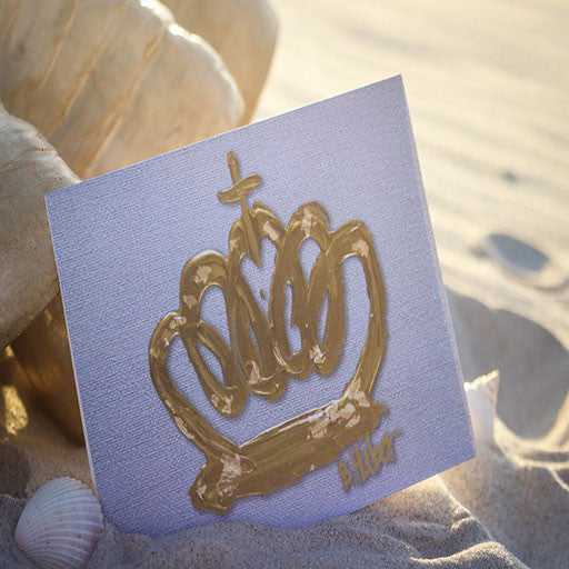Gold Crown with Gold Leaf (Pack of 8)