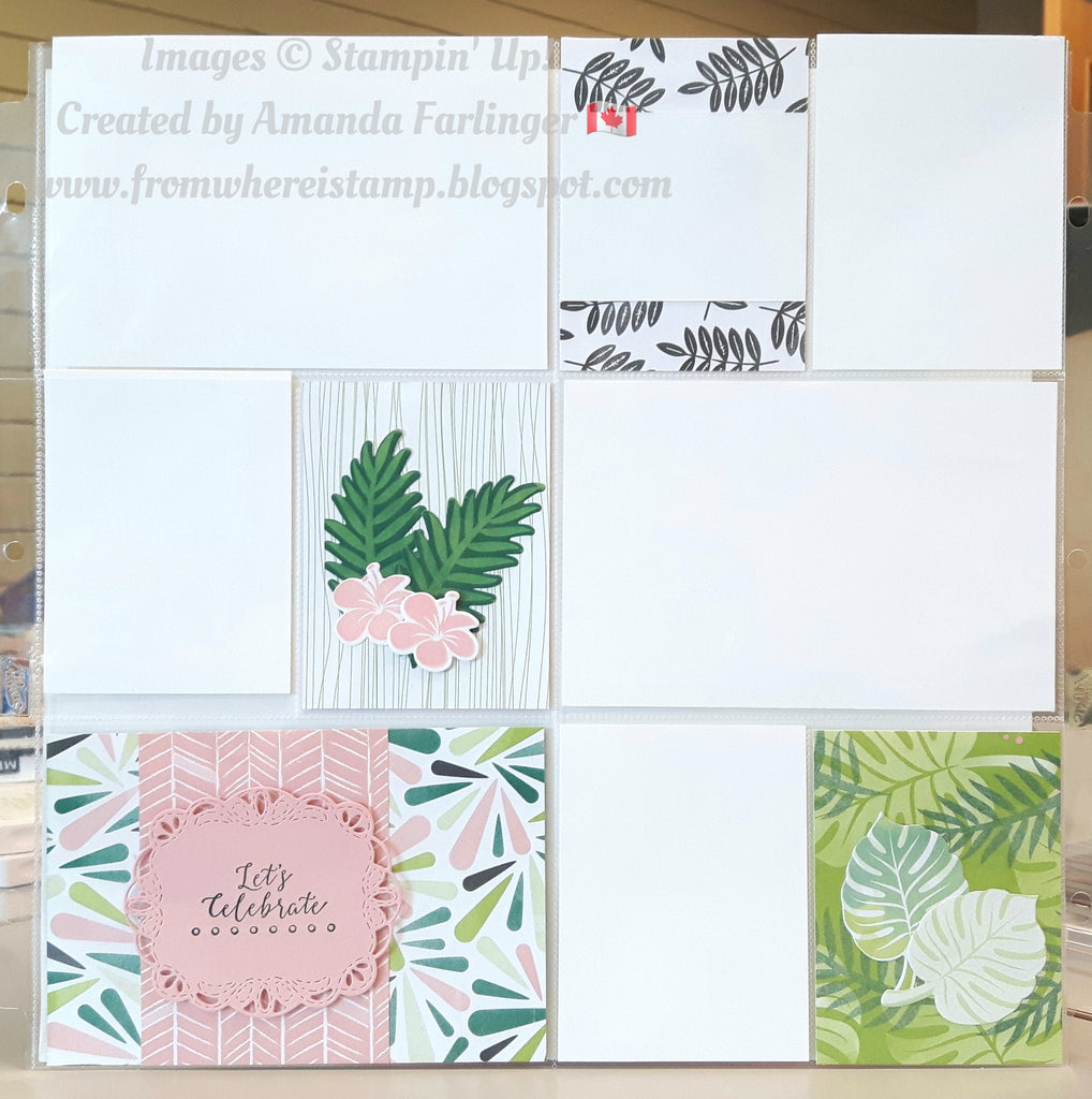 Pocket Page Showcasing Tropical Chic!