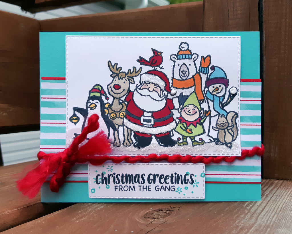 Christmas Crowd - featuring Stamp & Create Team Member Vicki Brooks