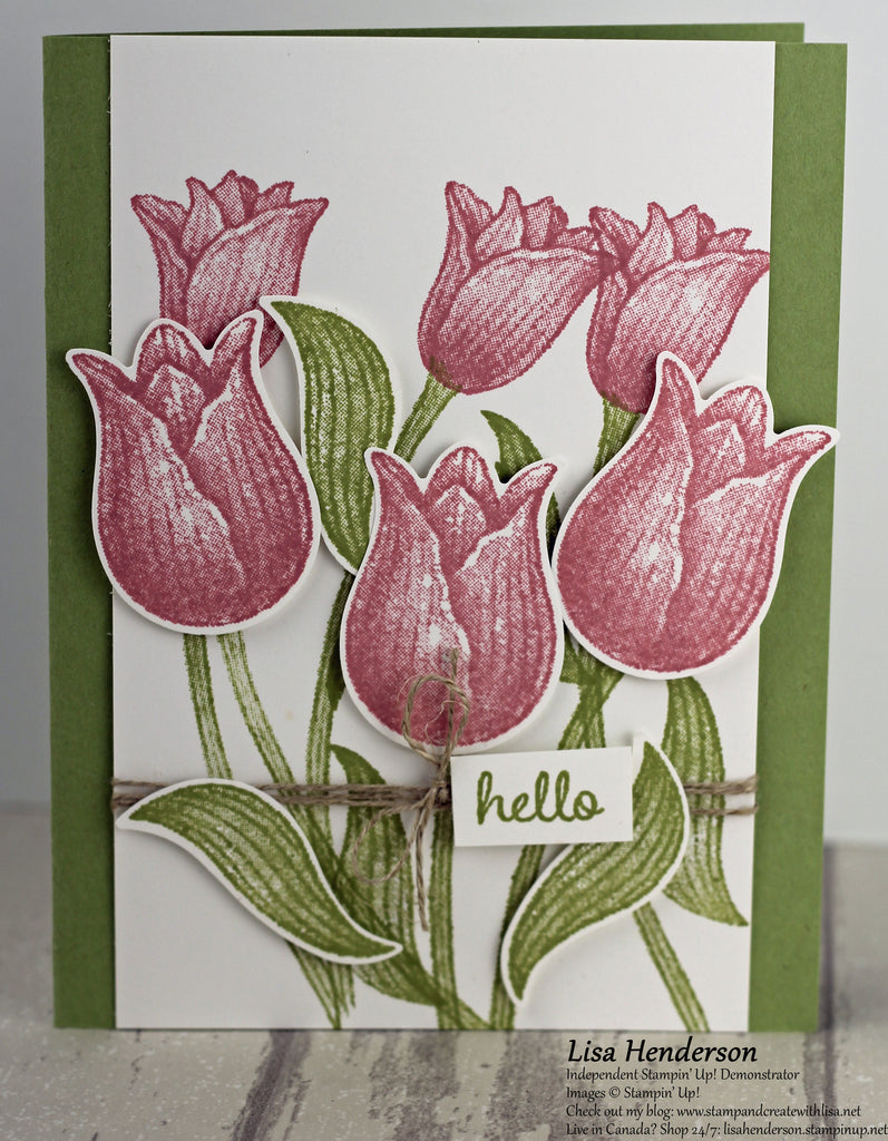 Hello with Timeless Tulips