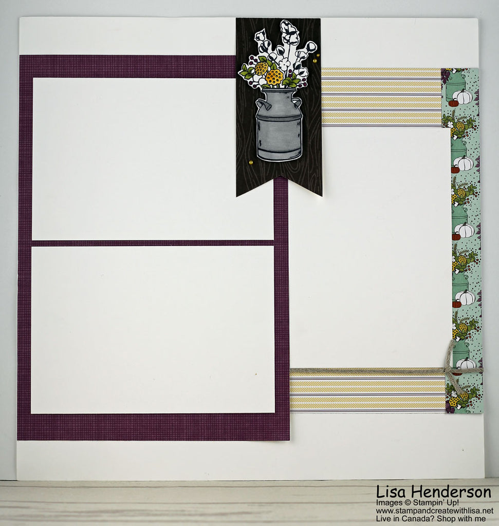 Country Lane Scrapbook Layout