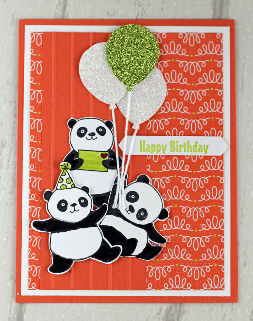 Swap Card Share - More with the Birthday Pandas