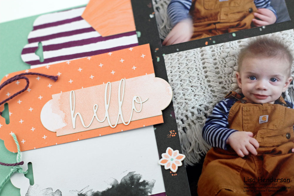 Make It Monday - Hello Layout using Delightfully Detailed Memories & More