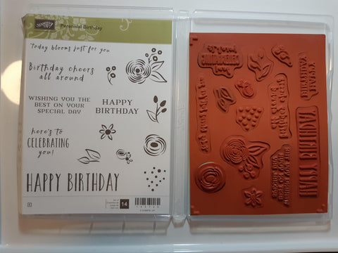 Perennial Birthday stamp set