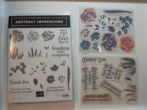 Abstract Impressions stamp set