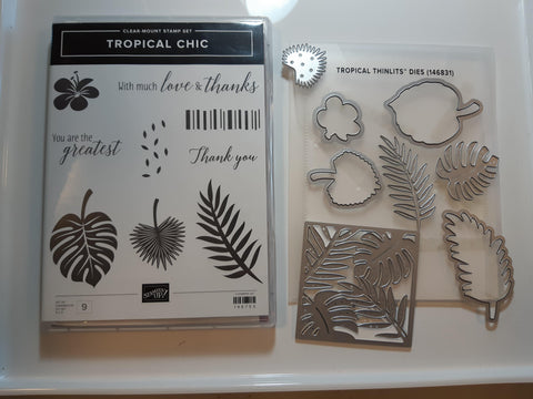 Tropical Chic bundle - stamp and dies