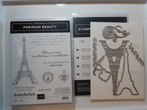 Parisian Beauty bundle - stamp and dies