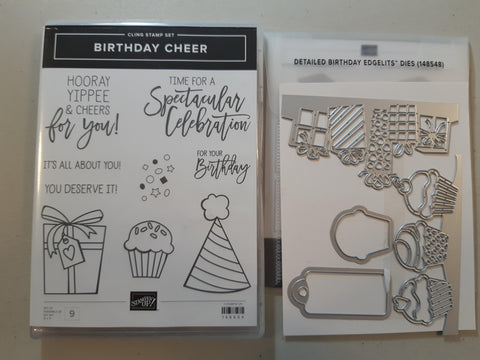 Birthday Cheer bundle - stamp and dies