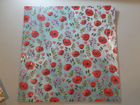 "Peaceful Poppies 12"" x 12"" Designer Series Paper"